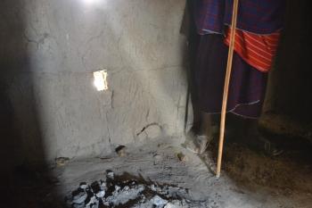 le foyer dans la hutte