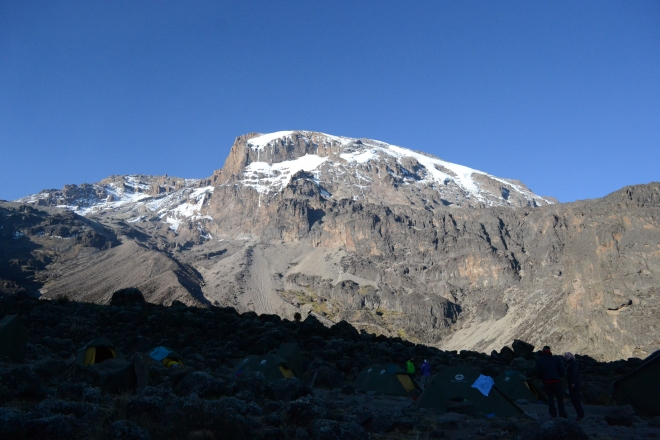 le Kibo vu du Barranco camp